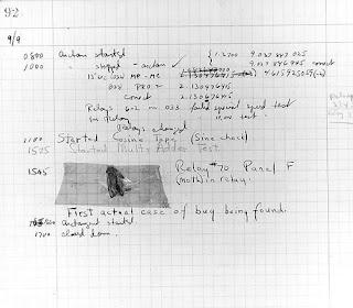 gambar bug pertama dalam komputer