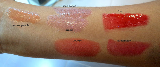 revlon colorburst lipglosses