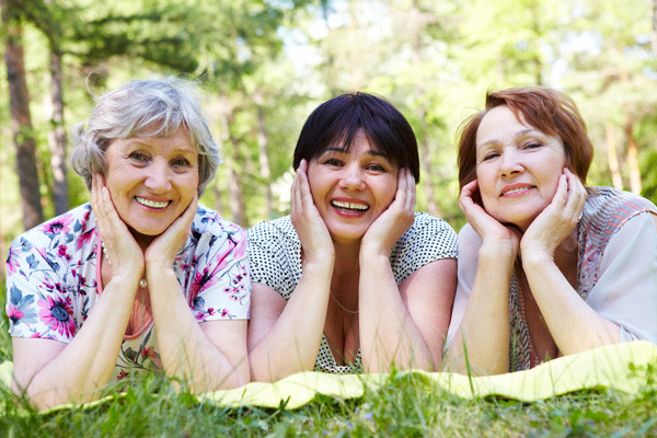 happy smiling mature women