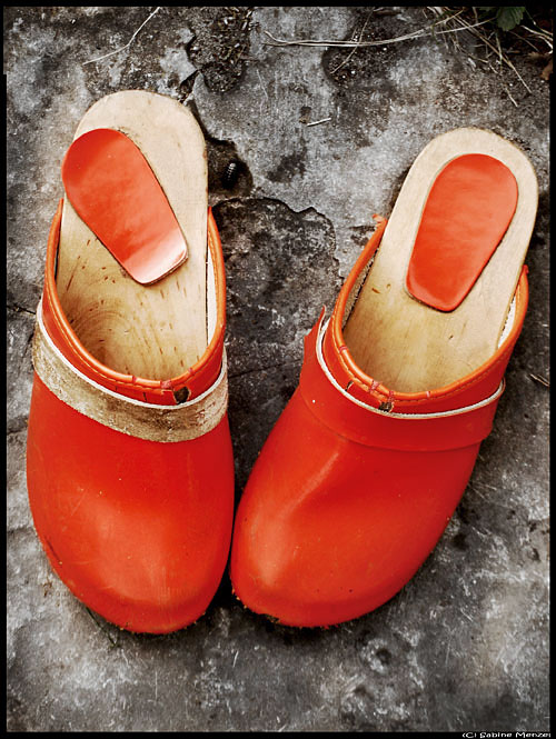 Psynopsis Orange Vintage Clogs