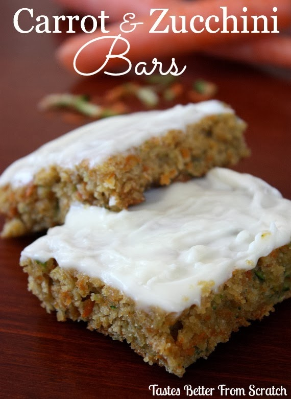 Carrot and Zucchini Bars with Lemon Cream Cheese Frosting | Tastes ...