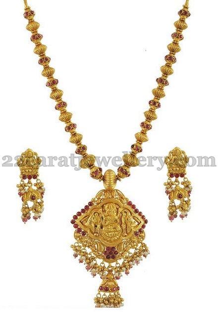 gold temple jewellery necklace jewellery designs