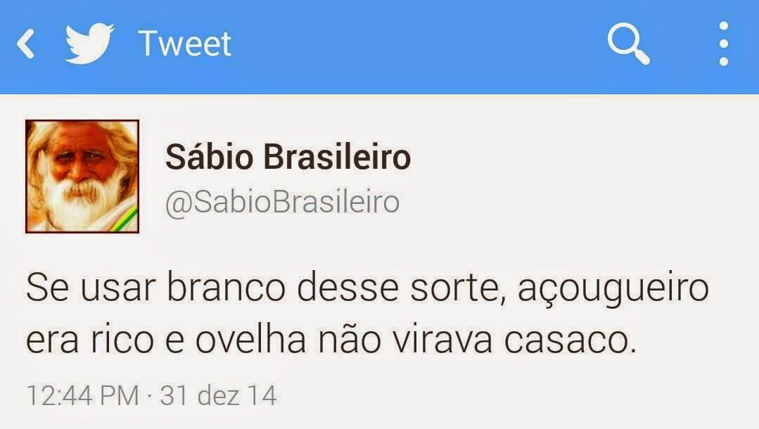 Se usar branco desse sorte o Aécim teria sido eleito presidente do Brasil