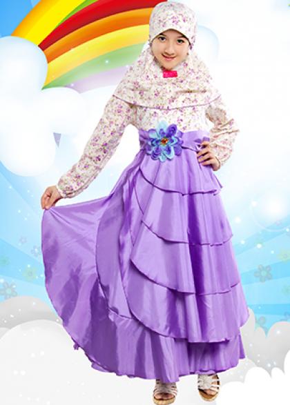 Butik baju pesta anak gamis branded merk aini dan aliza kids Baju gamis anak aliza