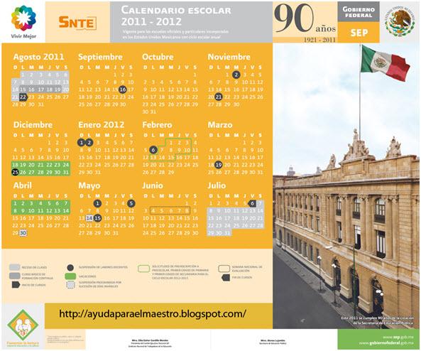 Calendario Escolar 2011 - 2012