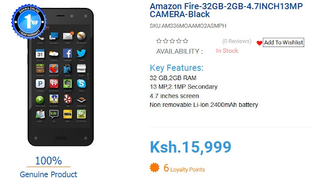 dakika online amazon fire phone