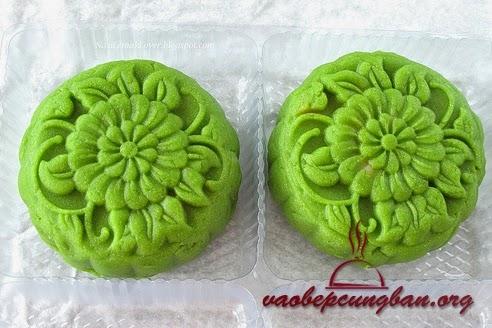 Bánh trung thu dẻo trà xanh nhân đậu xanh