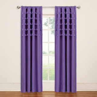 Ruffle batiste curtain