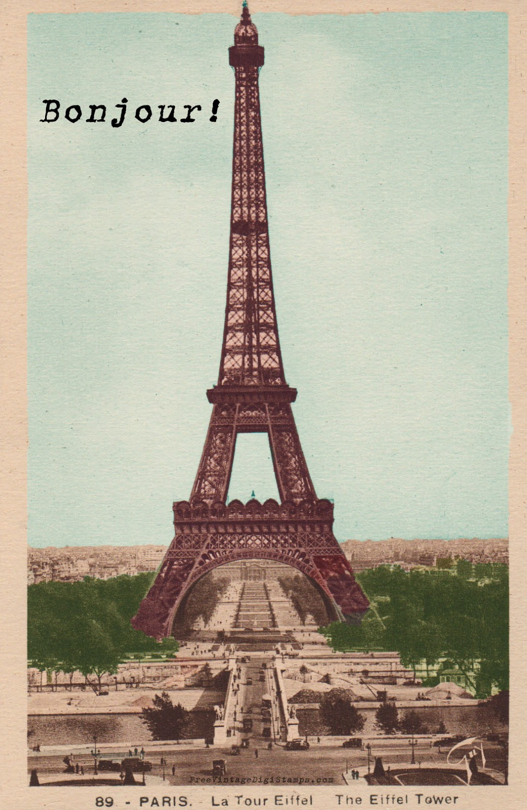 Exceptional image within printable eiffel tower