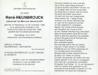 Bidprentje René Reunbrouck 1898-1998