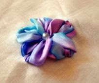 Silk Ribbon flower tutorial