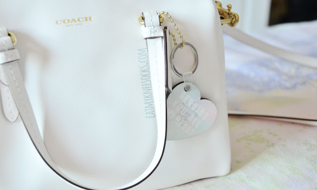 Snapmade offers tons of customizable products, like this custom-printed original design pastel heart keychain that I made.