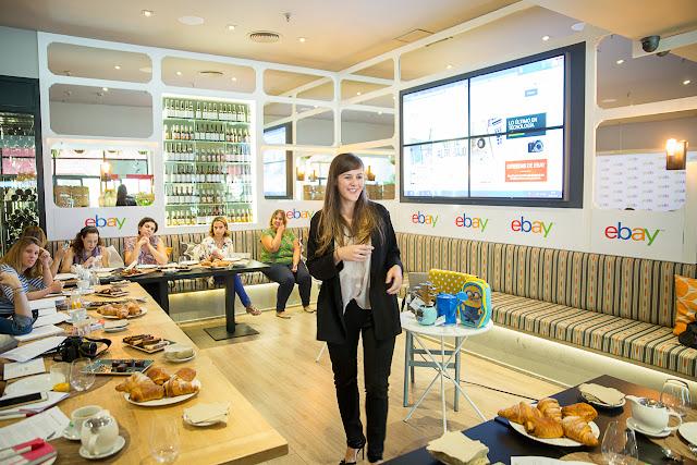 Madres blogueras aprendiendo con Cristina Gómez, responsable de comunicaciones de eBay en España
