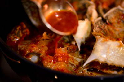 Fried Crabs with Chili Sauce
