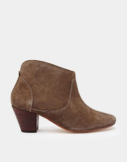 H By Hudson Suede Ankle Kiver Beige Boots