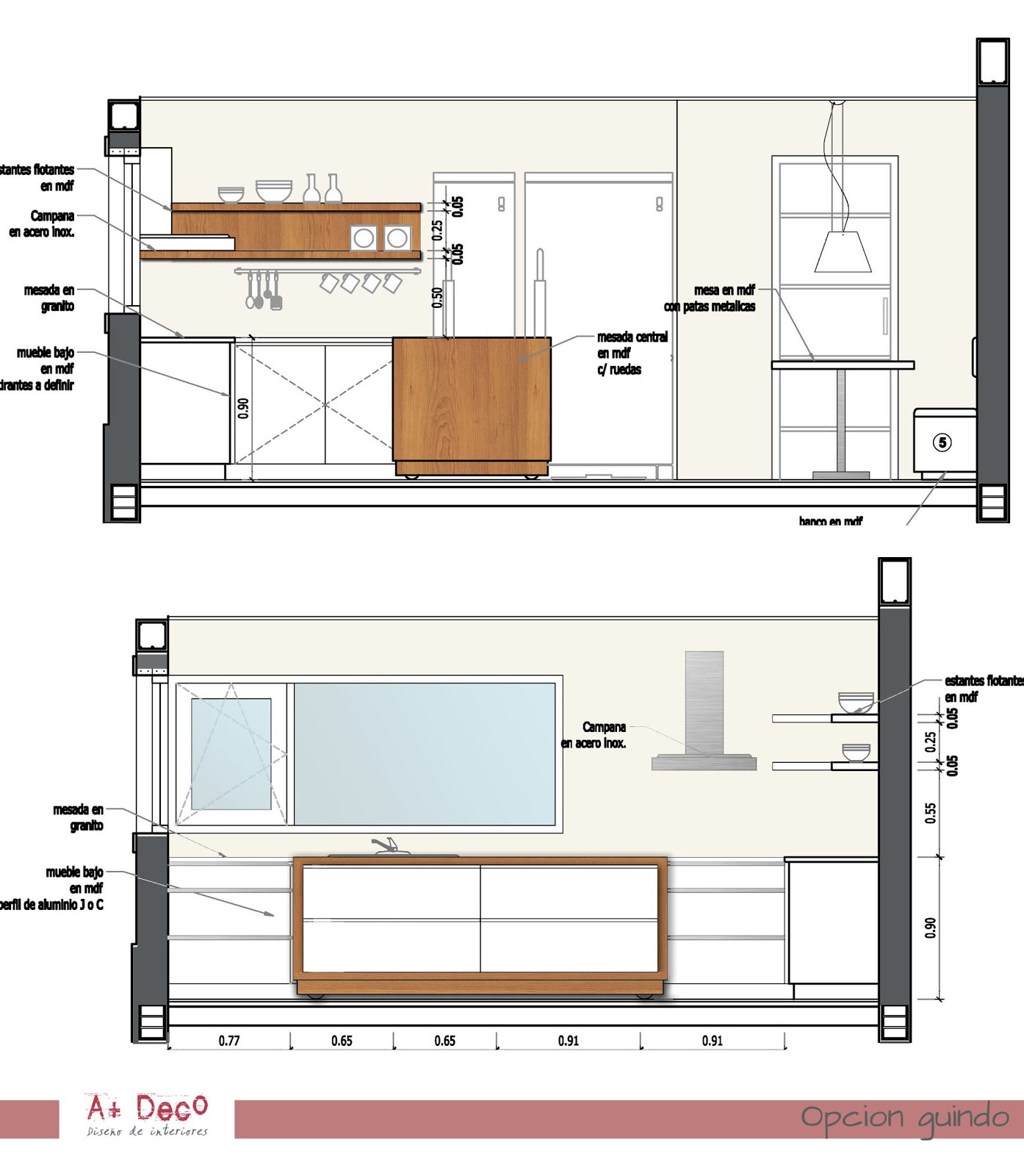 Fotos y planos de muebles de cocina ideas for Planos de cocinas 4x4