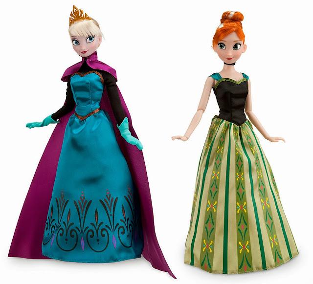 muñecas elsa anna frozen set munecas de lujo