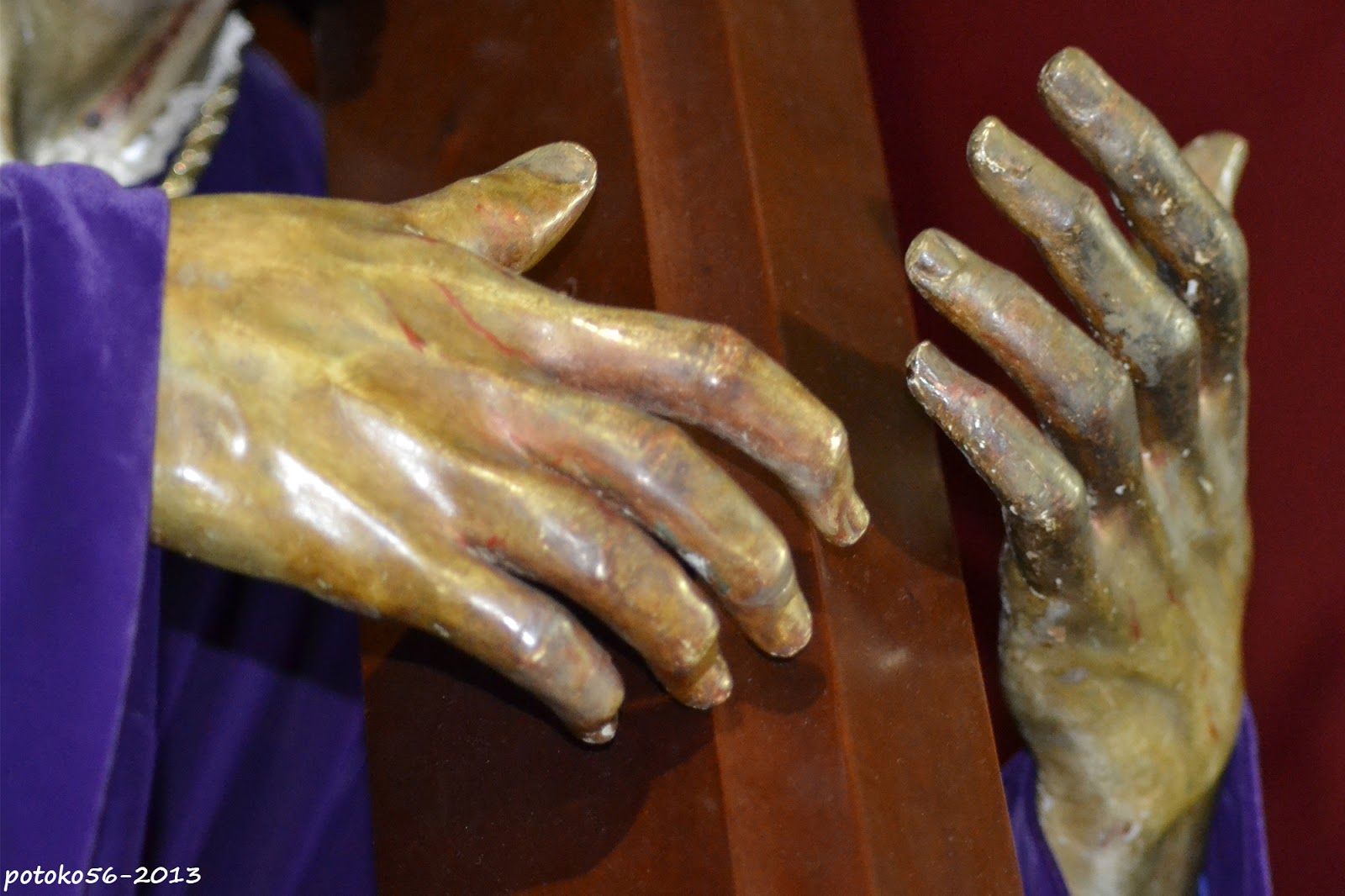 Detalle de las manos del Nazareno de Rota