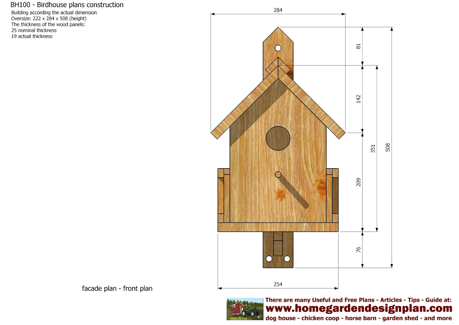 Easy build bird house plans - House plans