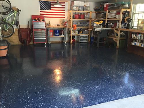 epoxy domestic problems garage floor by step tutorial a imperfection diy coating rocksolid rustoleum coverage