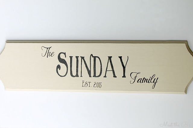 Wedding gift idea- Family Name Sign