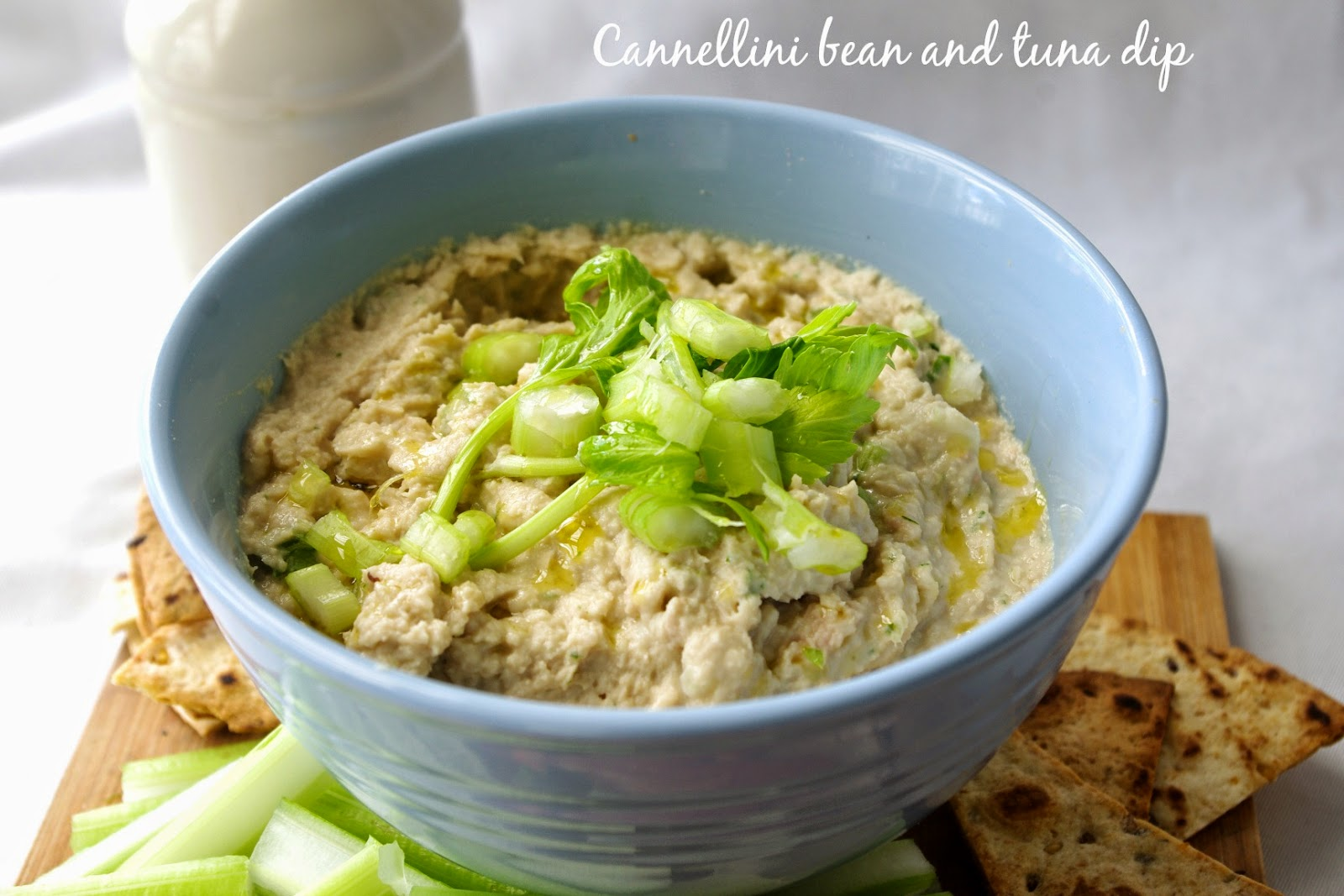 Cannellini bean and tuna dip