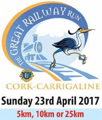 Great Railway Run in Cork...25kms, 10kms & 5kms...Sun 23rd Apr 2017