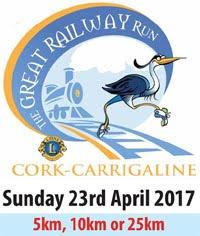 Great Railway Run in Cork...25kms, 10kms & 5kms...Sun 23rd Apr 2017