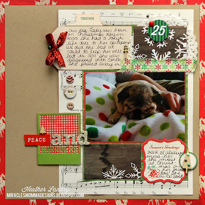 Christmas Page_Death and Loss_Dog Pug_Scrapbook Page