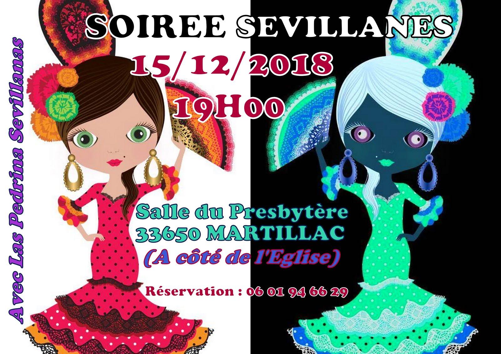 SOIREE SEVILLANES 15 DECEMBRE 2018