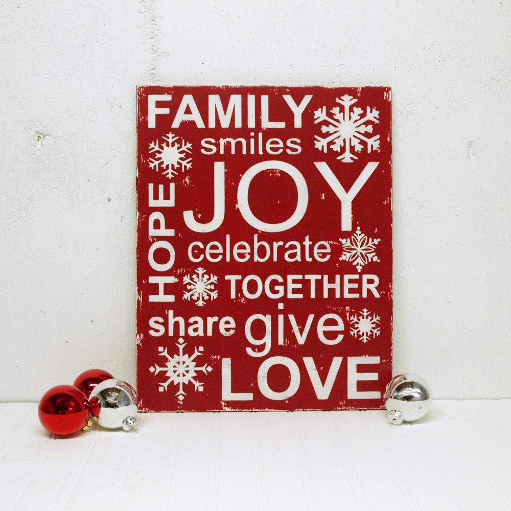 Holiday Word Cloud to Make | Square Pennies