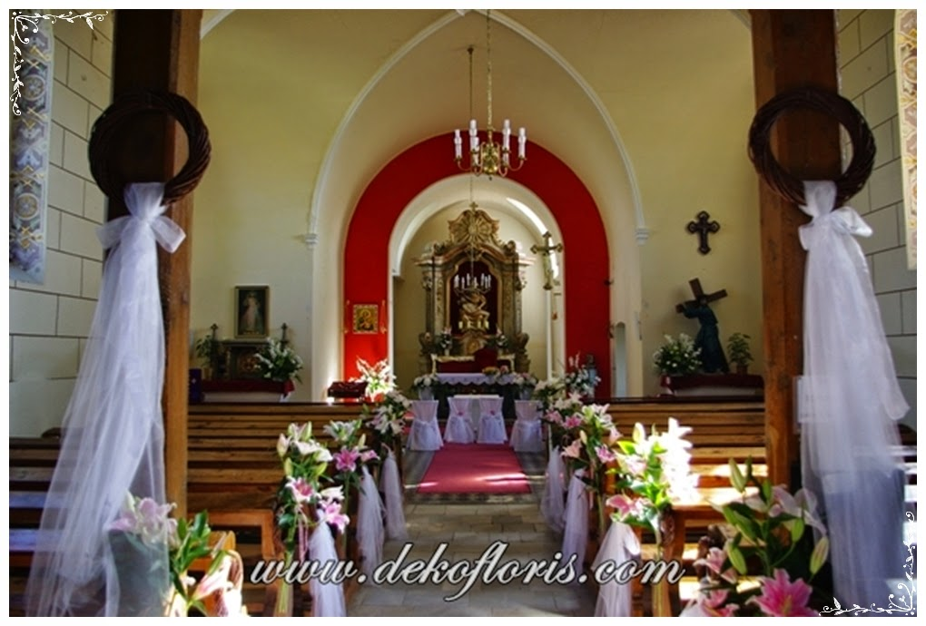 ślubna dekoracja kościoła opolskie Szwedzka Górka Przydroże Małe