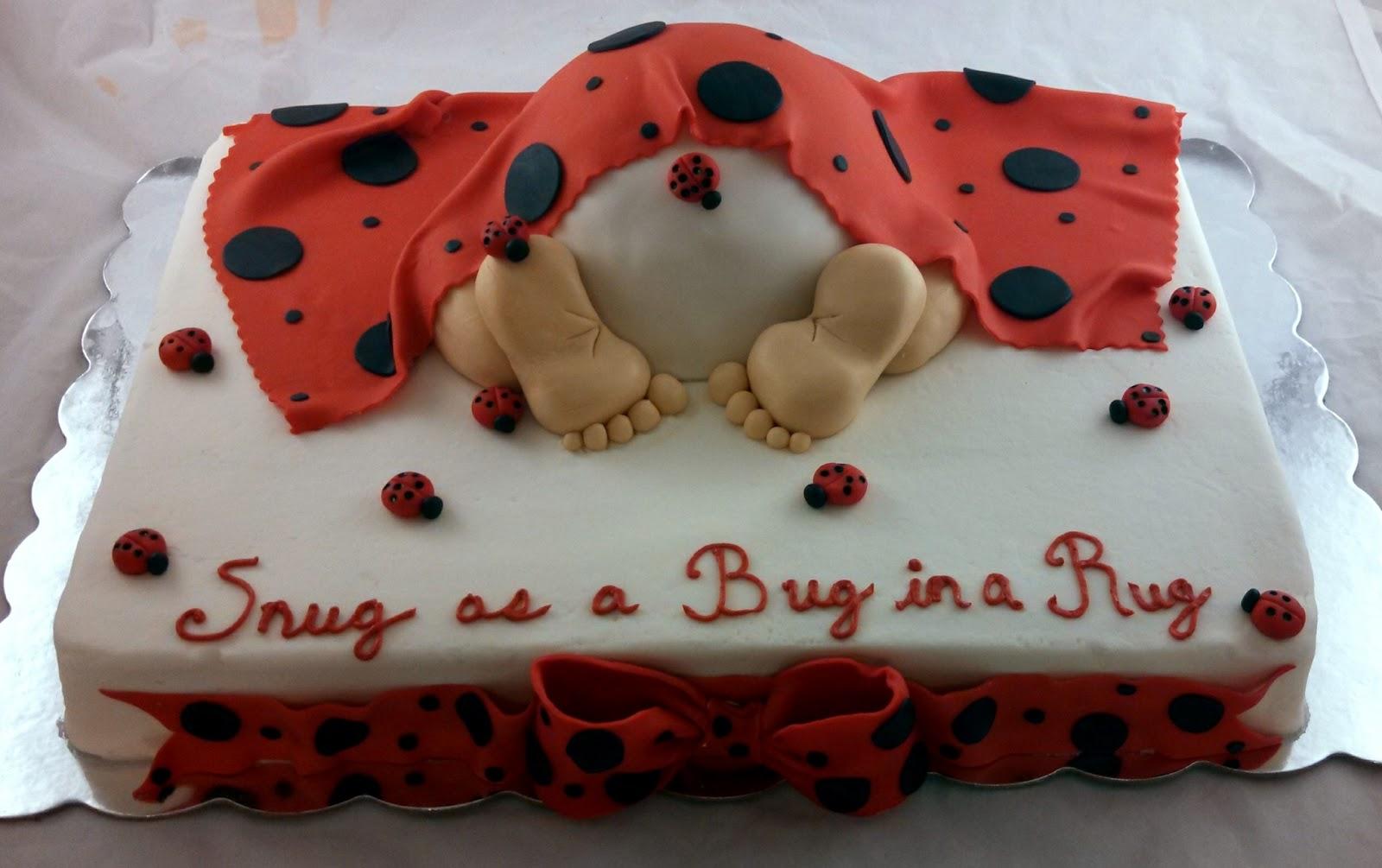 sugar spice sweets ladybug baby rump cake