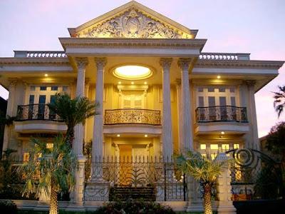 Rumah modern klasik mewah mediterania