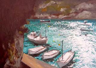 Cala Canutells, cuadro al oleo