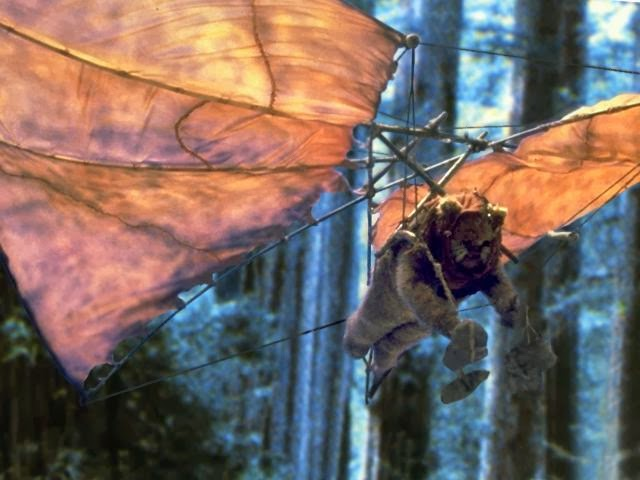 Flying Ewoks from Return of the Jedi