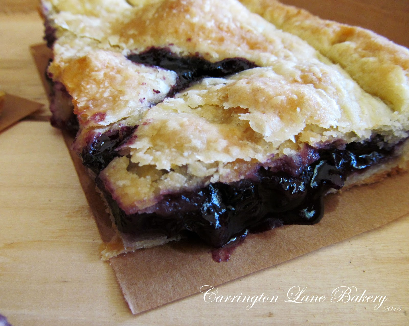 Carrington Lane Bakery: Blueberry Apple Slab Pie