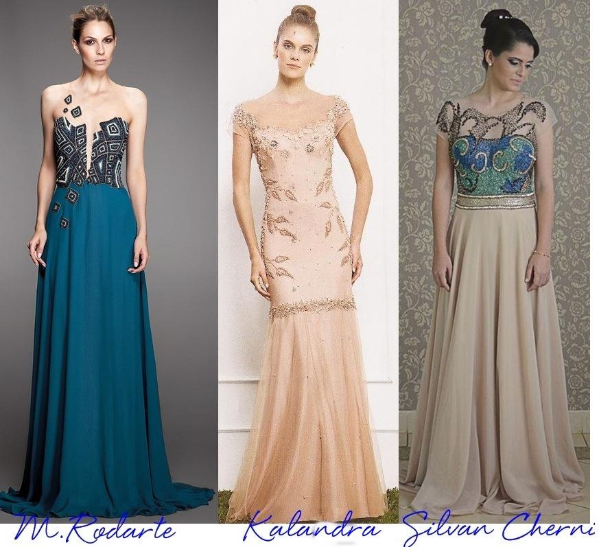 35 vestidos de festa com manga curta - Madrinhas de Casamento