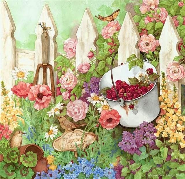 imagens de artesanato para jardim:Sandi Gore Evans