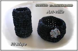 Sorteo 2° aniversario  En Art-Ville  10 de mayo