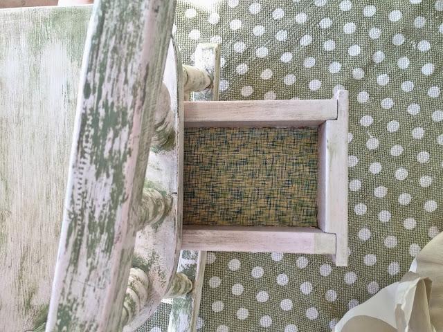 child's antique rocking chair drawer