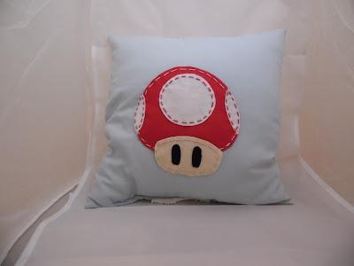 felt stitch super mario mushroom pillow