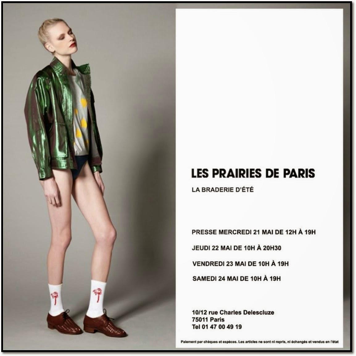 Braderie Ventes Privées presse soldes Les Prairies de Paris mai 2014