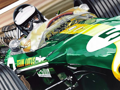 Jim Clark in his Lotus