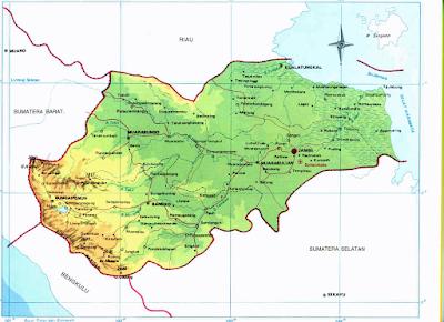 Peta Administrasi Propinsi Jambi
