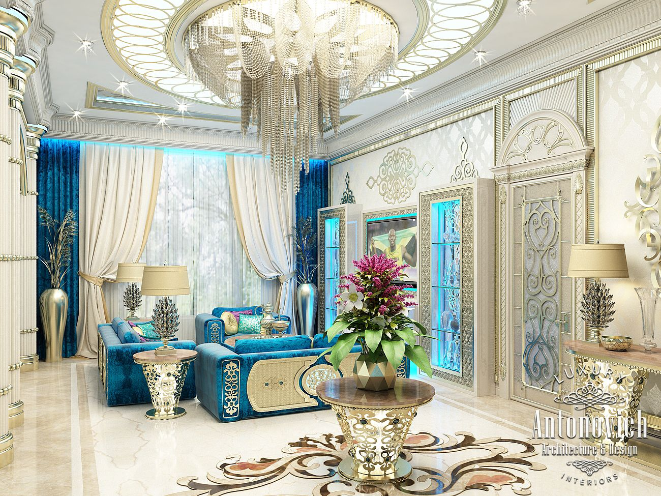 Luxury antonovich design uae 2015 for Duta villa interior design