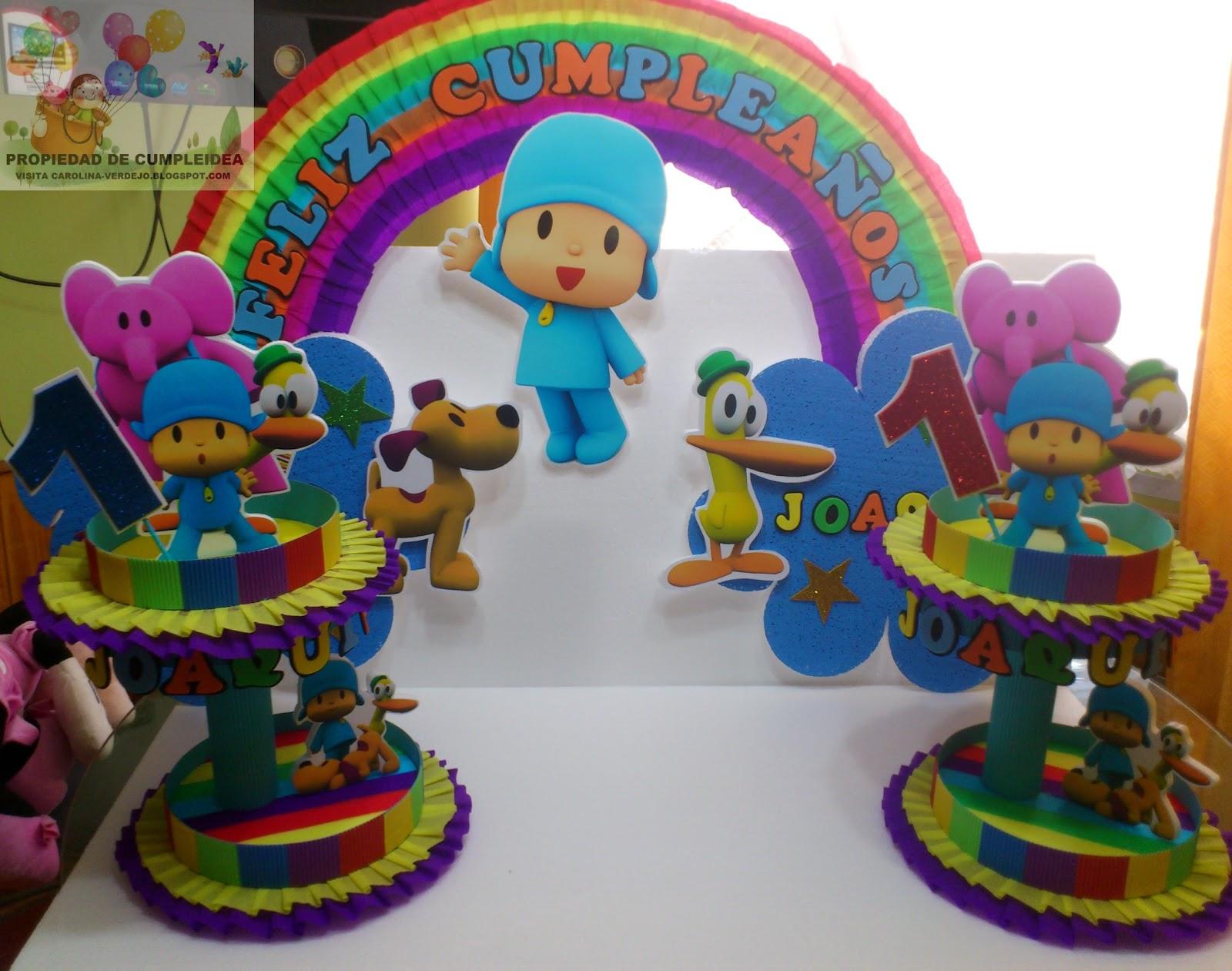 Decoraciones infantiles pack pocoyo - Decoracion de mesa de cumpleanos infantil ...