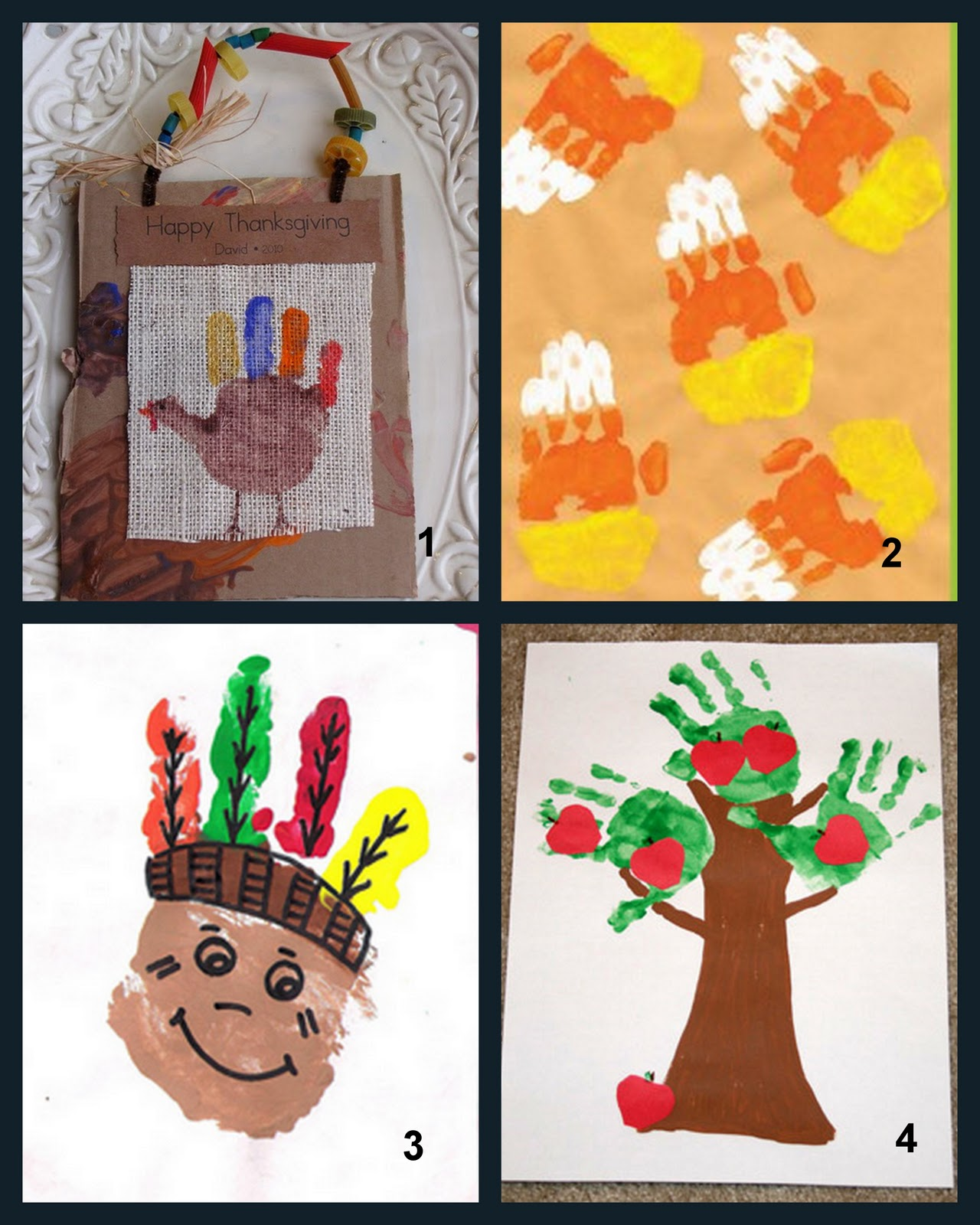 Having fun at home fall handprint art ideas for Hand crafts to do at home