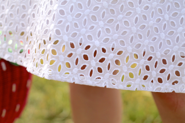Details of Voodoo Vixen white Billie Blush dress