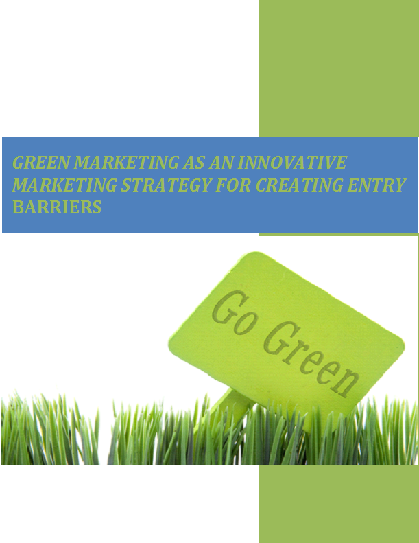 green marketing thesis proposal Green marketing - research database the paper is written in the style of a dissertation dissertation proposal example.